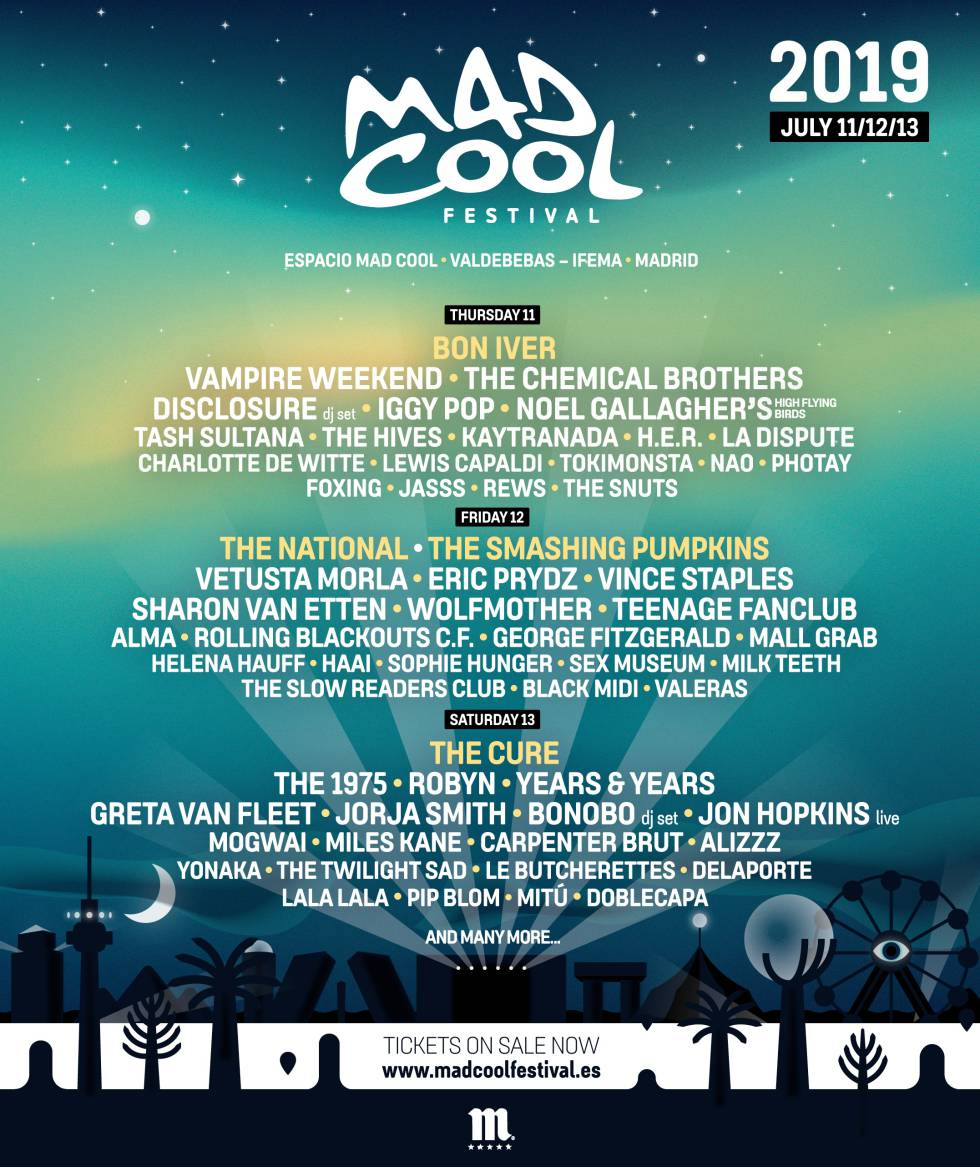Mad Cool 2019: Iggy Pop, The Chemical Brothers y Disclosure se suman al cartel