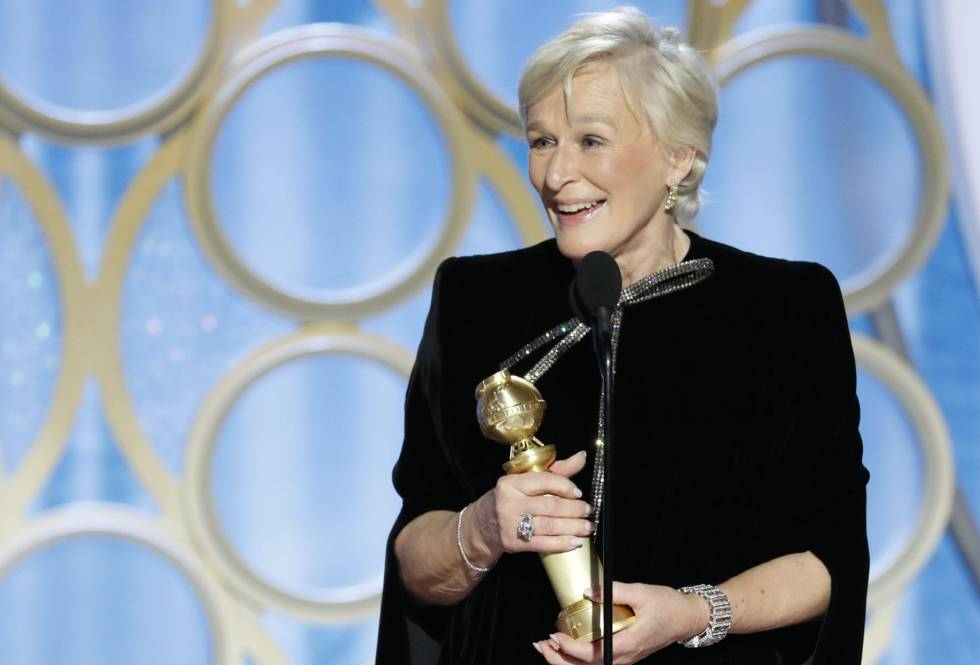 Glenn Close durante su discurso.