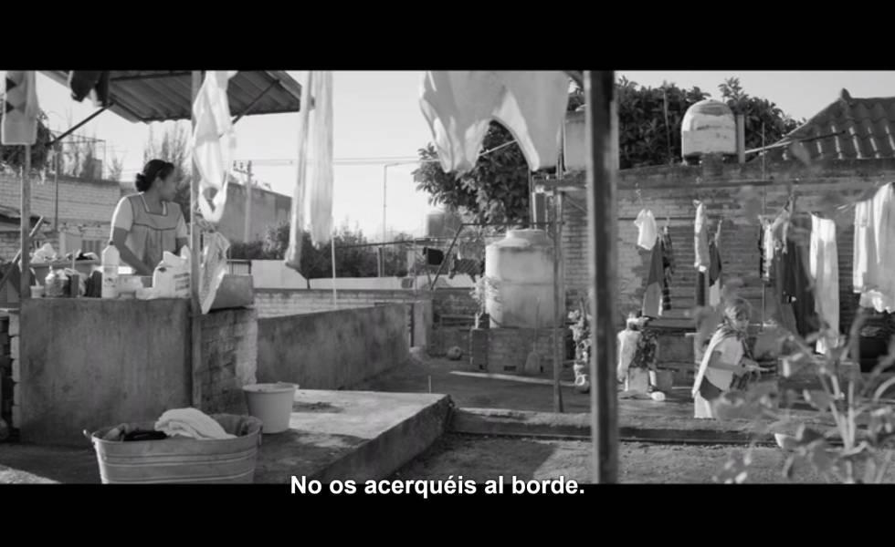 La misma secuencia de la película 'Roma', con subtítulos en español de España.