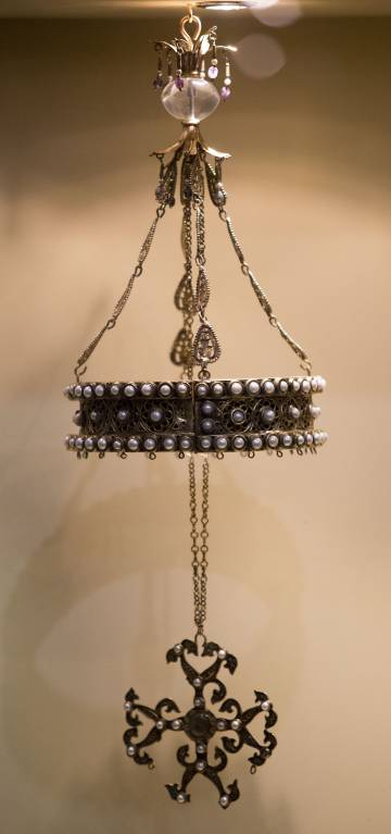 Reproducción de la corona de Suintila, robada en 1921, que se expone en el museo de Guadamur.