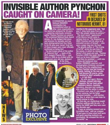 Image from the tabloid page 'National Enquirer'