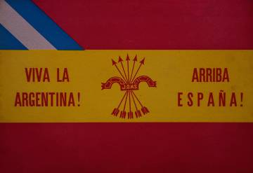 Póster impreso por falangistas en Buenos Aires en 1930.