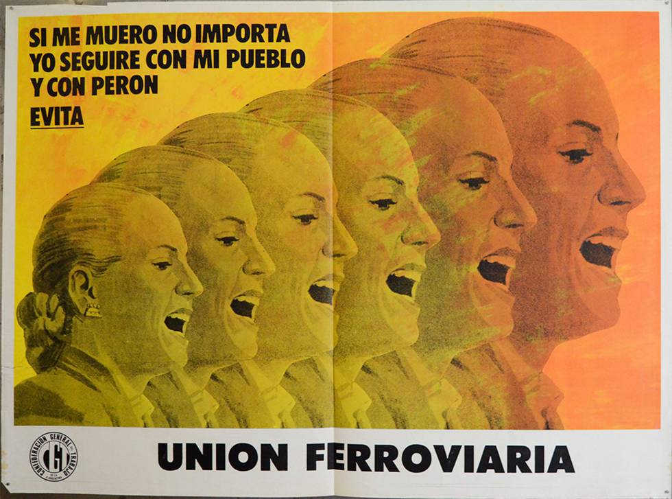 Póster de Eva María Duarte, 'Evita', de 1973 o 1974.rn