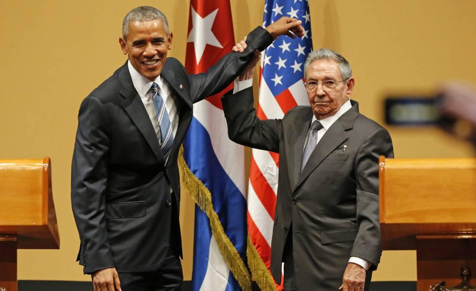 Barack Obama y Raúl Castro, en La Habana el 21 de marzo de 2016.