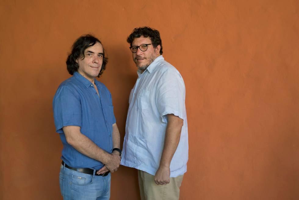 Mircea Cartarescu y Santiago Gamboa, en Cartagena de Indias.
