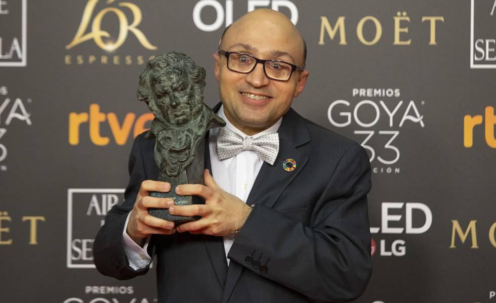 Jesús Vidal, tras recibir el Goya a mejor actor revelación.