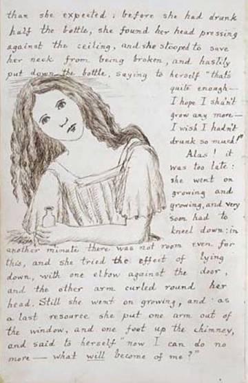 Reproducción del manuscrito original de 'Alicia bajo tierra', precursor de 'Alicia en el País de las Maravillas', de Lewis Carroll.