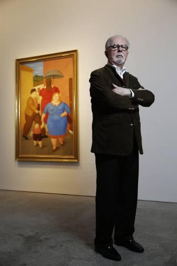 """Botero: """"Sou o pintor vivo que mais expõe no mundo. Até crianças pequenas me reconhecem"""""""