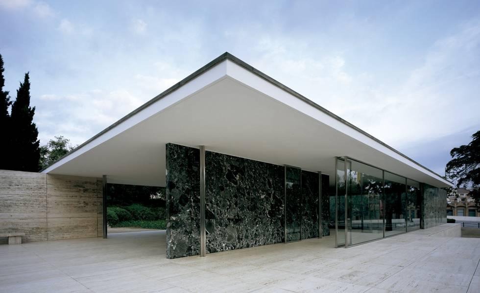 O Pavilhão Alemão desenhado por Mies van der Rohe para a Exposição de Barcelona de 1929.