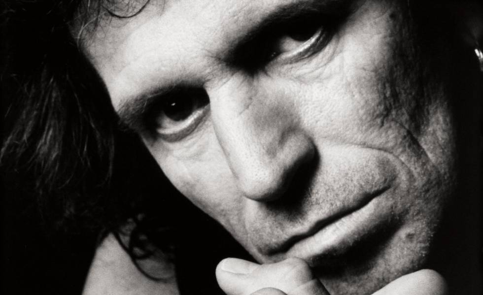 Keith Richards, retratado para seu disco 'Talk is Cheap'.
