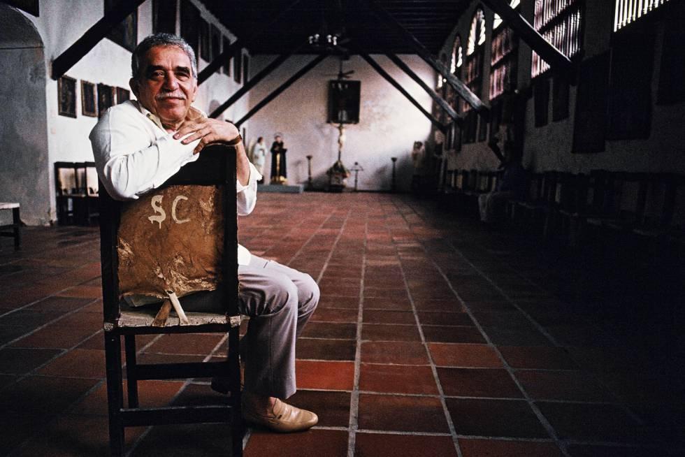 Gabriel García Márquez, en 1991, en Cartagena (Colombia)