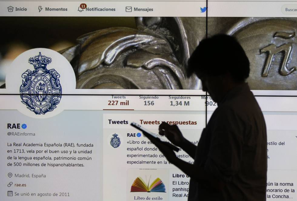 Cuenta de Twitter de la Real Academia de Lengua.