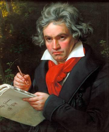 Retrato de Ludwig van Beethoven.