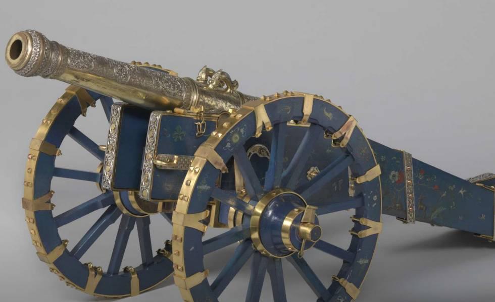 Un cañón de bronce, plata y rubíes del reino de Kandy, de Sri Lanka, que el Rijksmuseum se plantea devolver.