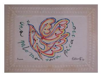 Tapete creado por Alberti para la exposición de 1972.
