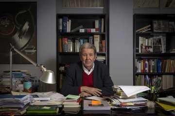 Jorge Herralde, en su despacho.