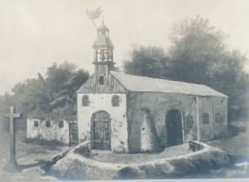 Fotografía en torno a 1904 de la iglesia de Baler, en Luzón, donde estuvieron sitiados Los últimos de Filipinas.