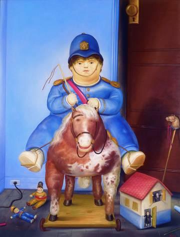 'Pedrito a caballo', exhibida en el Museo de Antioquia.