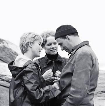 Andersson, Ullman y Bergman, en el rodaje de 'Persona'.