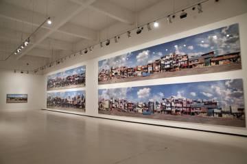 Aspecto de la exposición 'Parresia y lugar', de Dionisio González, en el CAC Málaga, la última comisariada por Fernando Francés el pasado diciembre.