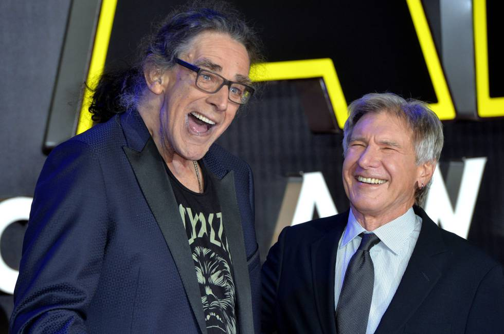 Peter Mayhew y Harrison Ford en 2016