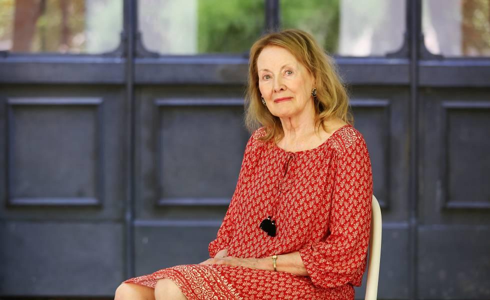 Annie Ernaux, novelista francesa, en el Festival de la Literatura, en Roma, en 2016