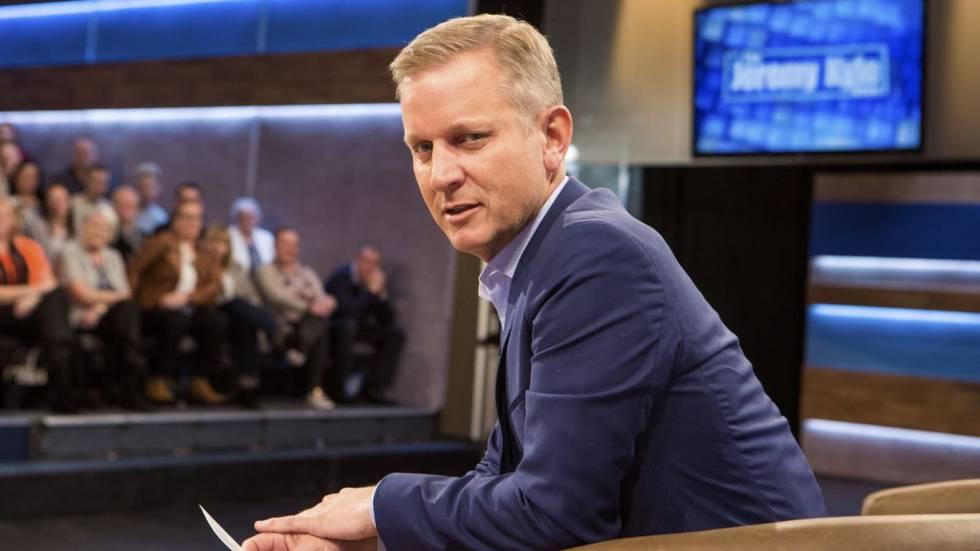 El presentador Jeremy Kyle en el plató del programa que lleva su nombre.