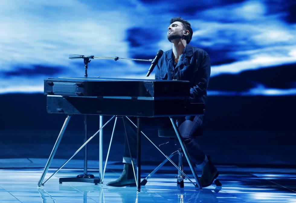 La actuación de Holanda en Eurovisión 2019, en Tel Aviv, este sábado.