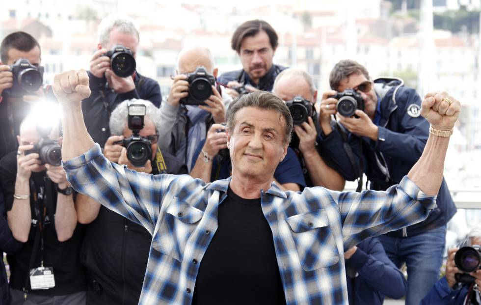 Sylvester Stallone, hoy en Cannes.
