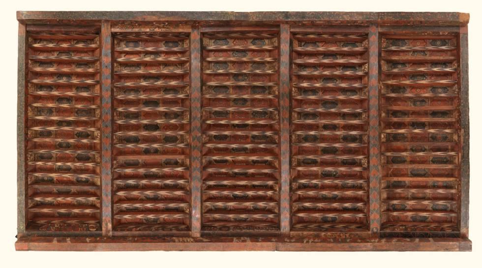 Artesonado (hacia 1400).