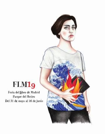Cartel de la Feria del Libro 2019, creado por Sara Morante.