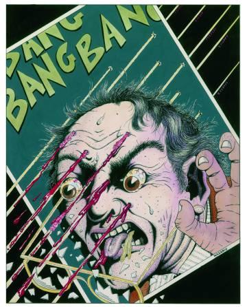 Obra original de Nazario para la primera portada de diciembre de 1979 de'El Víbora'.