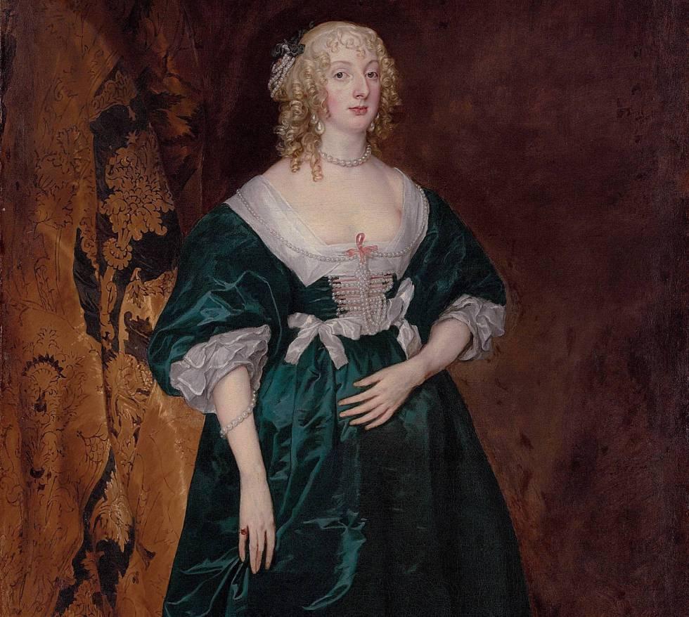 La obra Anthony van Dyck titulada 'Anna Sofia, condesa de Carnarvon'.
