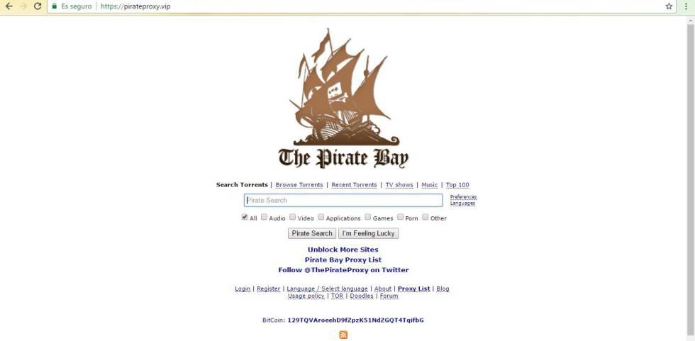 Cierre masivo de páginas piratas: la Audiencia Nacional bloquea 60 webs vinculadas a ThePirateBay | Cultura | EL PAÍS