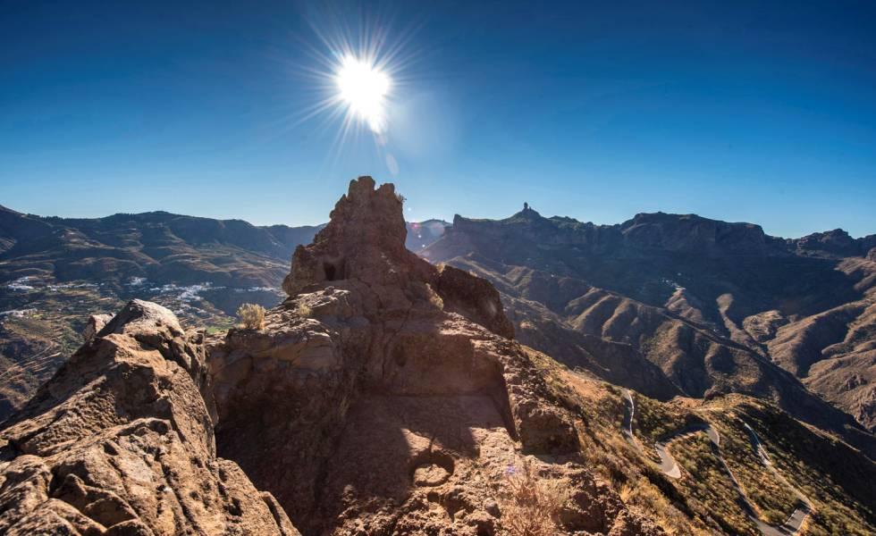 El Roque Bentayga, parte del conjunto de las montañas sagradas de Canarias.