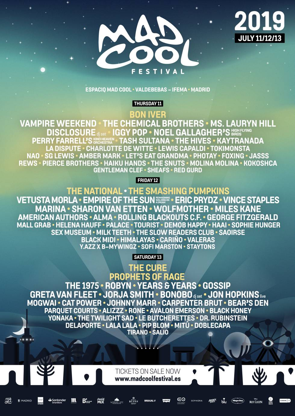 Mad Cool 2019 cartel