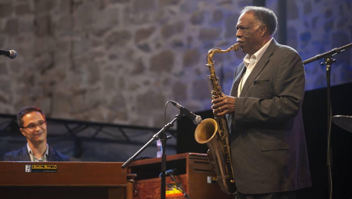 El saxofonista Houston Person, el sábado en su actuación en San Sebastián.