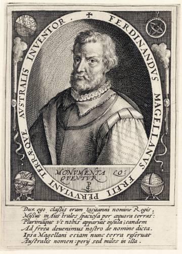 Grabado de Fernando Magallanes de alrededor de 1507.