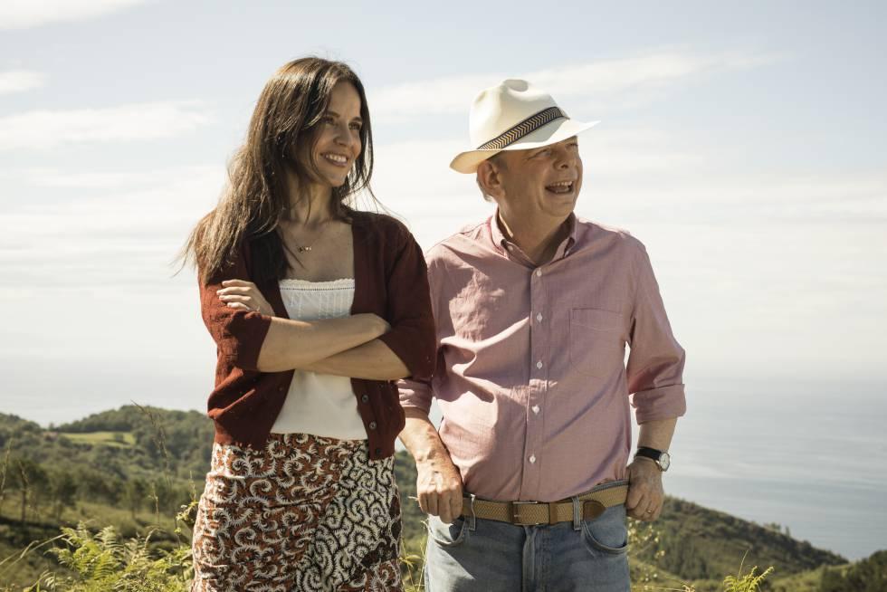 Elena Anaya y Wallace Shawn durante el rodaje.