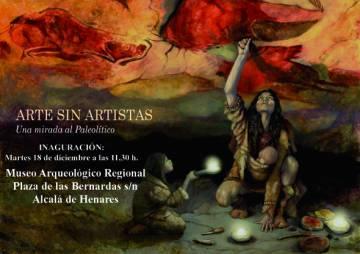 Cartel de la exposición 'Arte sin artistas. Una mirada al Paleolitico'.