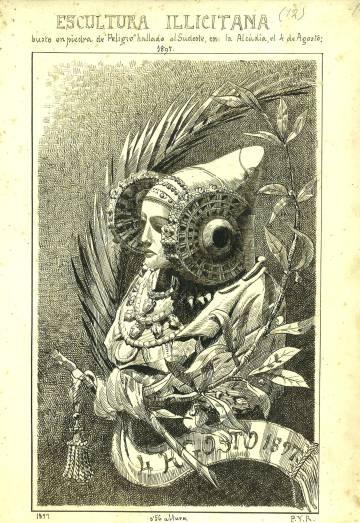 Dibujo de Pedro Ibarra realizado en 1897.