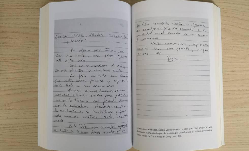Facsímil de uma carta enviada pelo Che a seus filhos em 1965.
