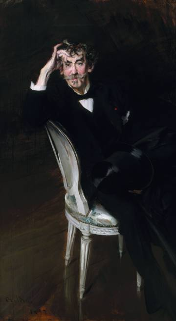 'James Abbott McNeill Whistler', de 1897, de Giovanni Boldini.