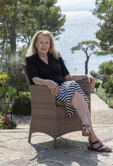 La escritora Annie Ernaux, el viernes en Formentor.