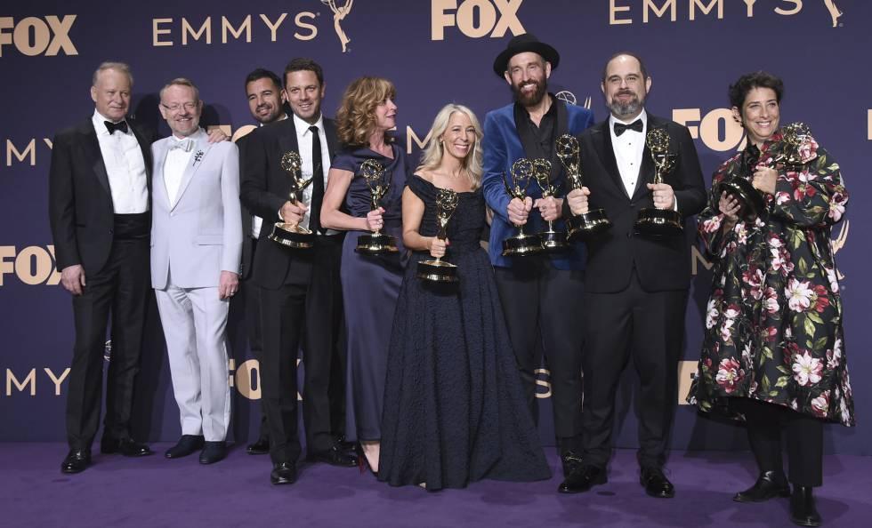 El equipo de 'Chernobyl', en los Emmy.