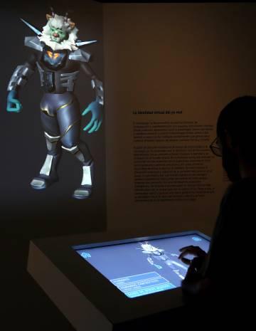 Parte de la exposición dedicada a los avatares.