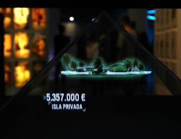 Uno de los hologramas de la exposición.