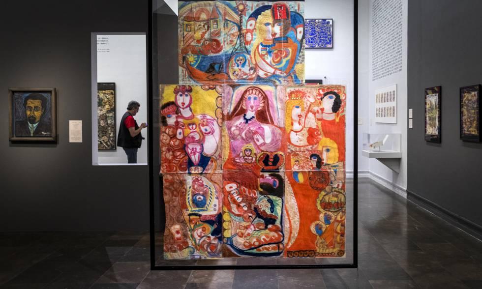 Pinturas de Aloïse Corbaz, recluida en un psiquiátrico suizo, que forman parte de la colección Art Brut de Dubuffet.
