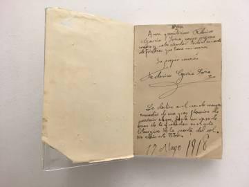 Lorca se dedica a sí mismo su primer libro: 'Impresiones y paisajes', publicado en 1918.