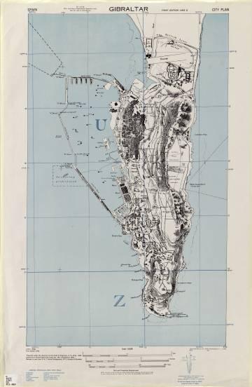 Mapa de Gibraltar conservado en la Universidad de Tejas.